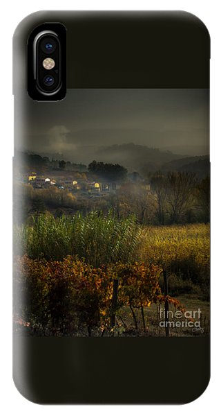 Foggy Tuscan Valley  IPhone Case