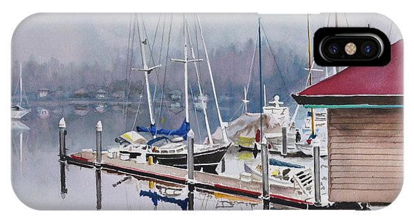 Foggy Dock IPhone Case