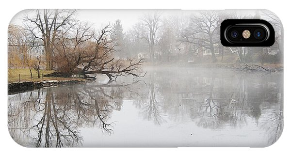 Foggy Winter Creek IPhone Case