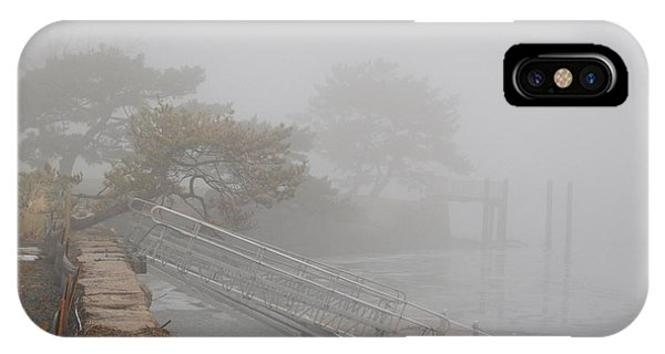 Foggy Winter Harbor IPhone Case