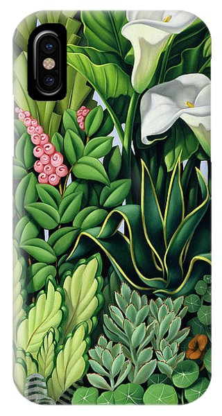 Garden iPhone X Case - Foliage by Catherine Abel