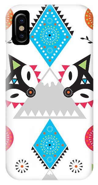 Fall Flowers iPhone Case - Folk Fox by MGL Meiklejohn Graphics Licensing
