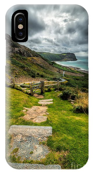 Grass iPhone Case - Follow The Path by Adrian Evans