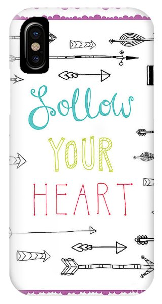 Positive iPhone Case - Follow Your Heart by MGL Meiklejohn Graphics Licensing