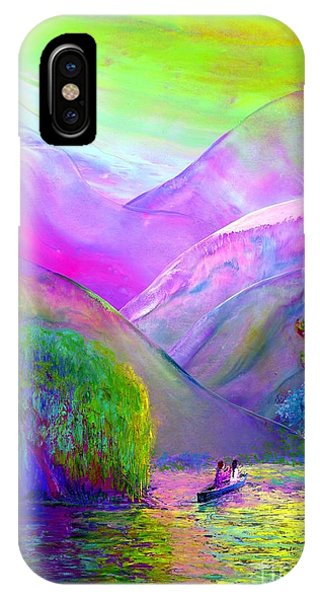 Native iPhone Case -  Love Is Following The Flow Together by Jane Small