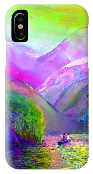 River iPhone Case -  Love Is Following The Flow Together by Jane Small