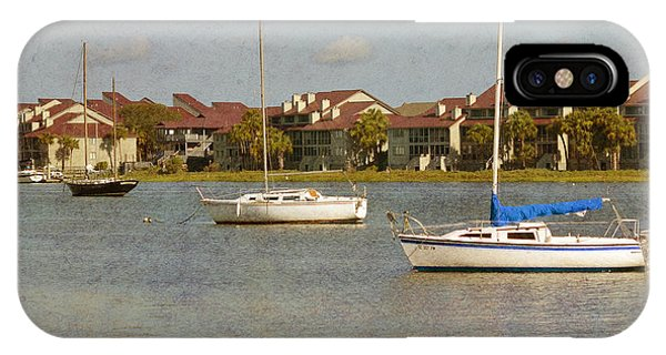Folly Beach Boats IPhone Case