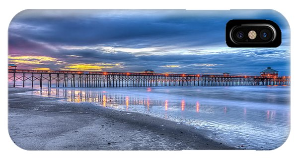 Folly Beach Fishing Pier IPhone Case