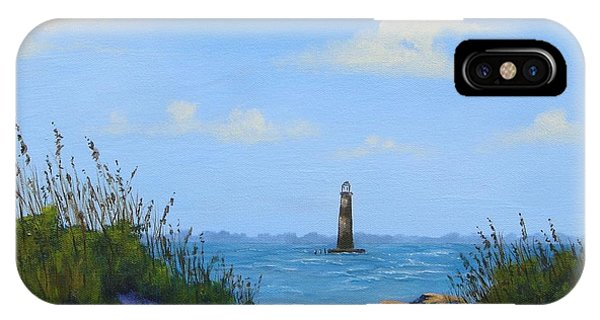 Folly Beach Lighthouse IPhone Case