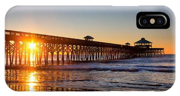 Folly Beach Pier At Sunrise IPhone Case