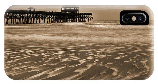 Folly Beach Pier Toned IPhone Case