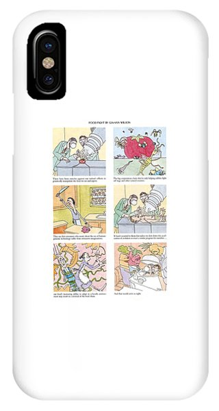 Adapted iPhone Case - 'food Fight' by Gahan Wilson