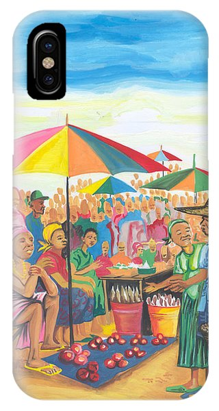 Food Market In Cameroon IPhone Case