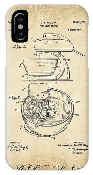 Food Mixer Patent Kitchen Art IPhone Case