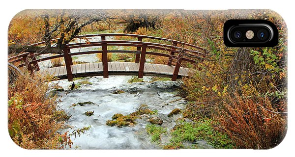 Foot Bridge At Cascade Springs. IPhone Case