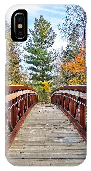 Foot Bridge In Fall IPhone Case