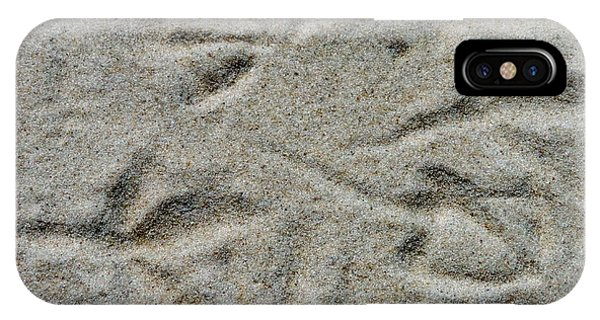 Foot Prints In The Sand IPhone Case