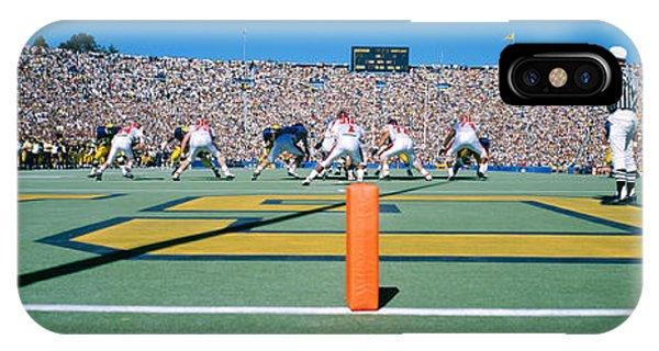 Football Game, University Of Michigan IPhone Case
