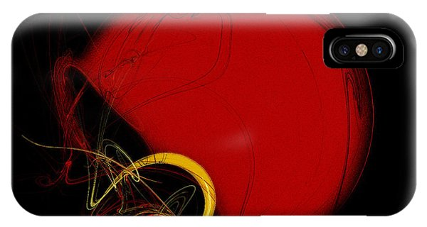 Football Helmet Red Fractal Art 2 IPhone Case