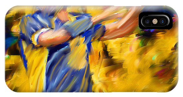 Running Back iPhone Case - Football I by Lourry Legarde