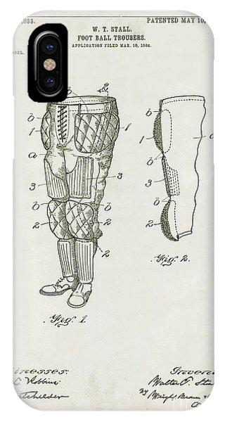 Raven iPhone Case - Football Pants Patent Drawing by Jon Neidert