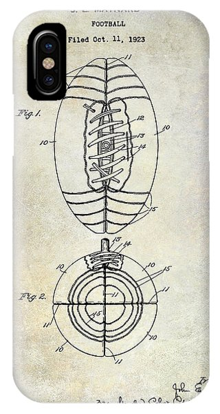 1925 Football Patent Drawing IPhone Case