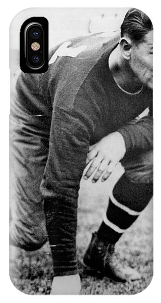 Football iPhone Case - Football Player Jim Thorpe by Underwood Archives