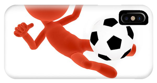 Football Soccer Shooting Jumping Pose IPhone Case