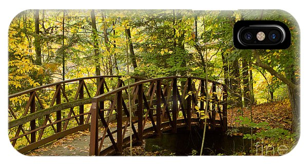 Footbridge At Letchworth IPhone Case