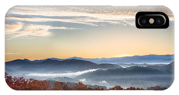 Foothills Parkway Fall Morning IPhone Case