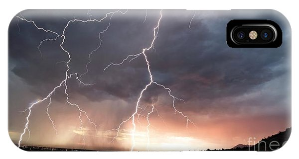 IPhone Case featuring the photograph Foothills Strike by Brian Spencer
