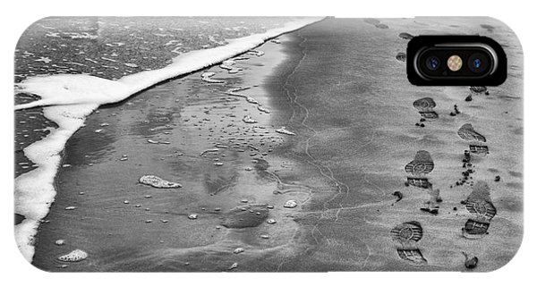 Tidal iPhone Case - Footprints  by Tim Gainey