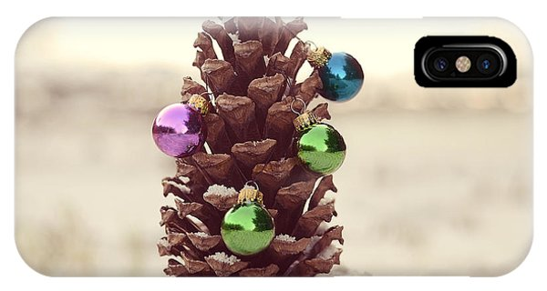 Christmas Tree iPhone Case - For All Creatures Great And Small by Laura Fasulo