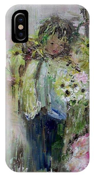 IPhone Case featuring the painting For My Mother by Laurie Lundquist