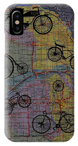 For The Love Of Cycling Phone Case by Kathleen Keller