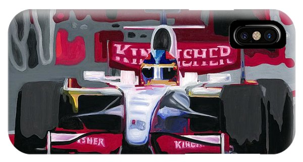 Force India Rising In F1 Monaco Grand Prix 2008 IPhone Case