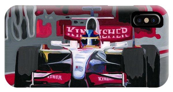 Force India Rising In F1 Monaco Grand Prix 2008 IPhone Case