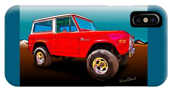 Ford Bronco Classic From Vivachas Hot Rod Art IPhone Case