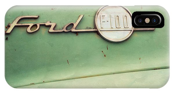 Teal iPhone Case - Ford F-100 by Priska Wettstein
