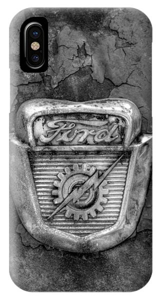 Ford Gear And Lightning In Black And White IPhone Case