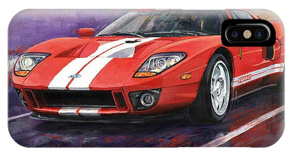 Car iPhone X Case - Ford Gt 2005 by Yuriy Shevchuk