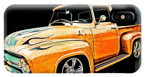 Ford Pickup In Flaming Gold IPhone Case