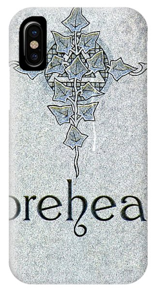 IPhone Case featuring the photograph Forehead Headstone by Jeff Lowe