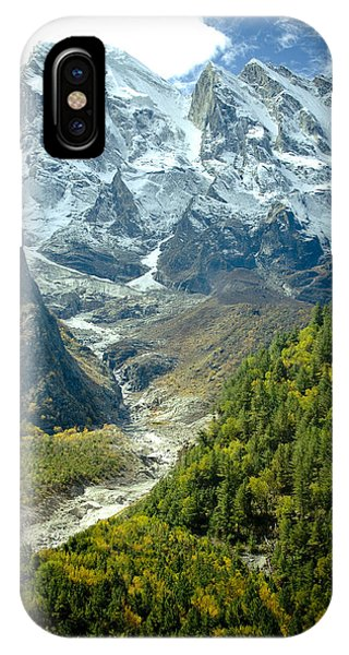 Forest And Mountains In Himalayas IPhone Case