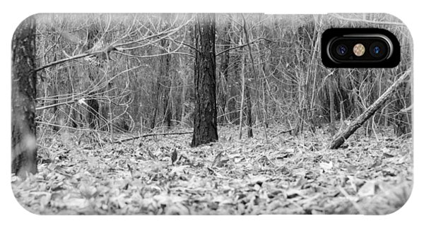 Forest Floor Black And White IPhone Case