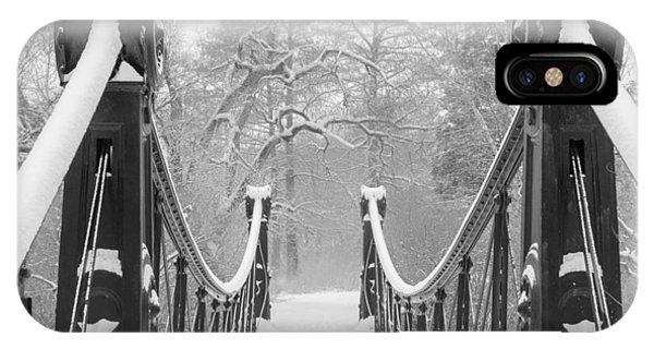 Forest Park Victorian Footbridge IPhone Case