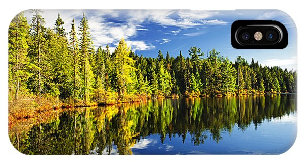 Abstract Landscape iPhone Case - Forest Reflecting In Lake by Elena Elisseeva
