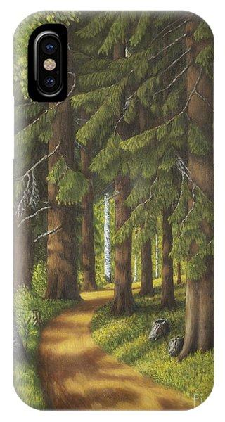 Spruce iPhone Case - Forest Road by Veikko Suikkanen