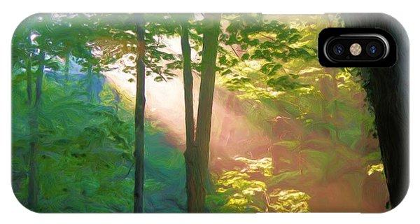 Forest Sunbeam IPhone Case
