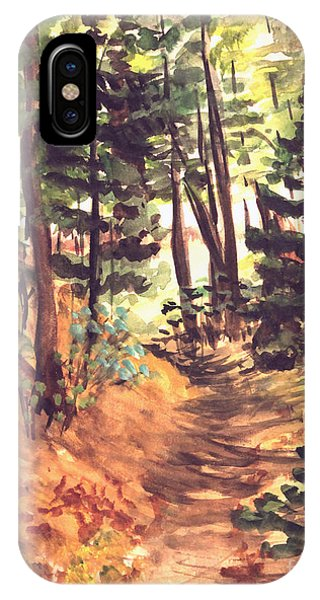 Forest Trail Michigan IPhone Case